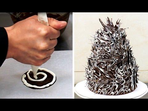ESPLOSIONE di CIOCCOLATO ♥ Decorazione Torta ♥ VIDEORICETTA