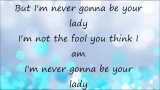 Never Gonna Be Your Lady By Faith Hill *Lyric Video*