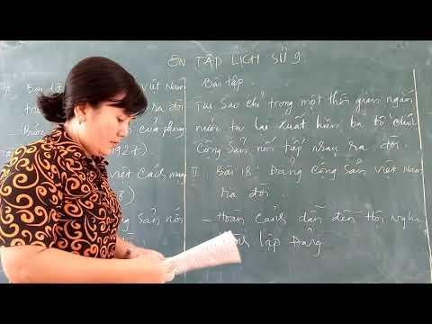 Ôn tập lịch sử 9 (Bài 17,18,19) _ Cô Lài