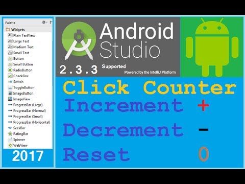 10 android studio tutorial how to count number of button