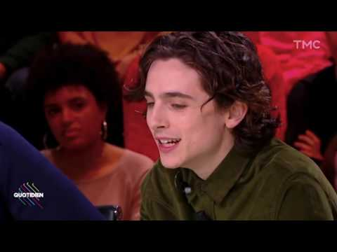 Timothée Chalamet and Armie Hammer on Quotidien (French interview) part 1