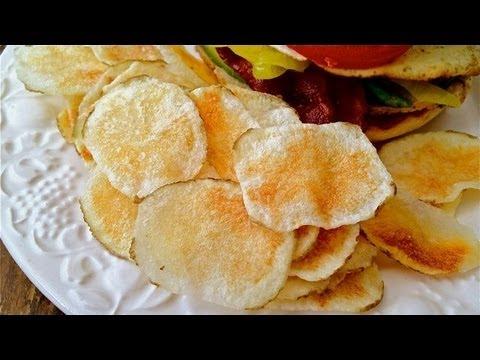 MICROWONK - Microwave Potato Chips Recipe