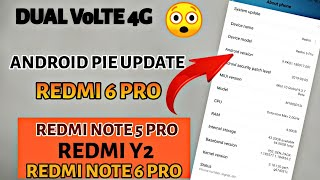 Redmi 6 Pro Android Pie Update with MIUI 10 3 1 0 & Dual VoLTE 4G