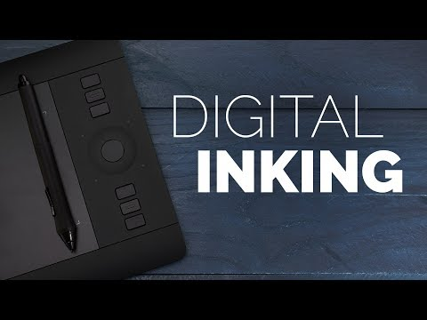 Digital Inking a Graphic Novel - YouTube