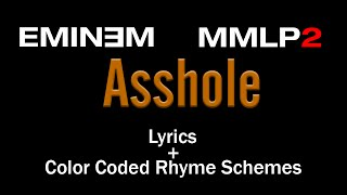 Eminem - Asshole - [Lyric Video & Colored Rhyme Scheme]