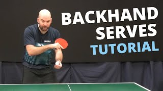 How to do top quality BACKHAND serves (with Craig Bryant)