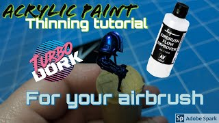 How To Thin Your Acrylic Paints For An Airbrush: Turbodork Noise Marine Paint Workup Part 1