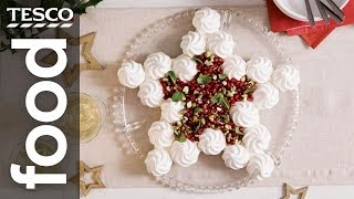 Jewelled meringue star