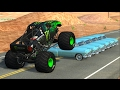 Beamng Drive Monster Truck Crashes Crushing Cars Jumps