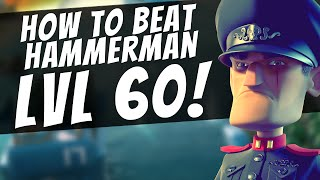 How To Beat Hammermans HQ LVL 60! Boom Beach Boss Stage