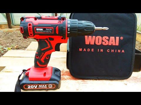 Аккумуляторная дрель шуруповёрт WOSAI / Cordless Drill WOSAI Screwdriver