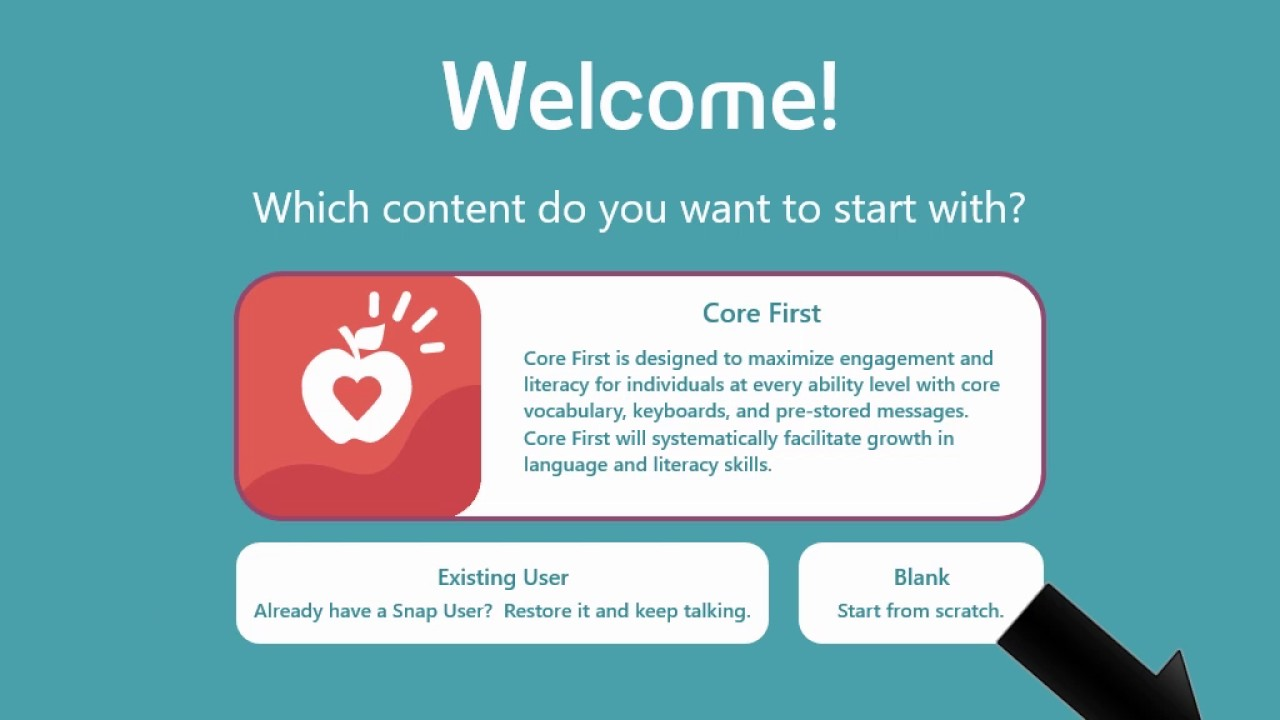Snap + Core First- 2: Set up Core First