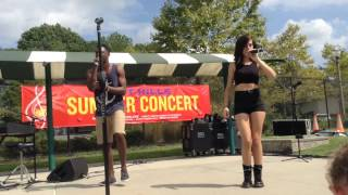 "Christina Grimmie and Matthew Schuler singing ""Counting Stars"" at East Hills"