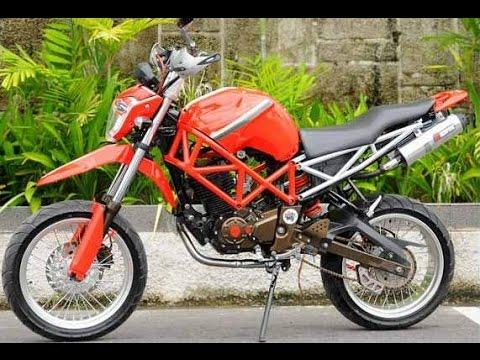 Video Cah Gagah   Video Modifikasi Motor Yamaha Byson Supermoto Adventure Keren Terbaru