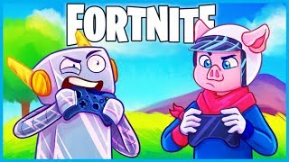 2 PC PROS use a *CONTROLLER* in Fortnite: Battle Royale! (Fortnite Funny Moments & Fails)