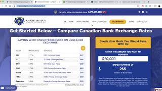 KnightsbridgeFX - Convert U.S. Dollars to Canadian Dollars