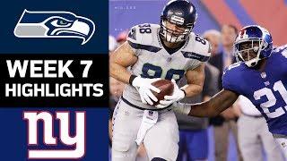 Seahawks vs. Giants | NFL Week 7 Game Highlights