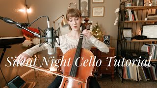Silent Night Cello Tutorial (for beginners) ft. Fiddlershop's Holstein Bow