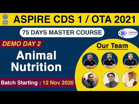 Aspire CDS 1/OTA 2021   Animal Nutrition   General Science   Day - 2   Online Benchers
