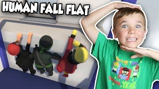 DAD AND TWO SONS DOING INSANE PARKOUR! | HUMAN FALL FLAT MULTIPLAYER (BLOX4FUN SQUAD)