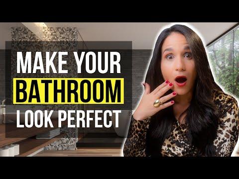 INTERIOR DESIGN TOP 5 Decor Tips To Make Your BATHROOM Look PERFECT! Material Design Ideas & Tips