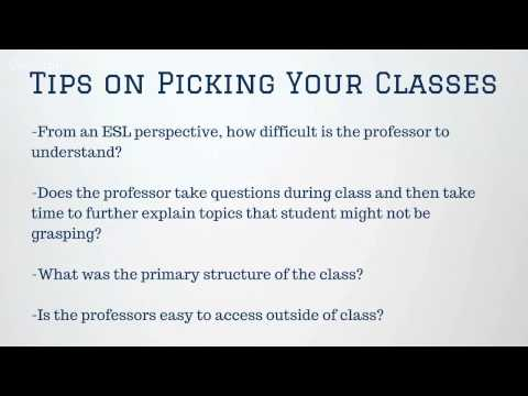 Tips on Picking your Classes