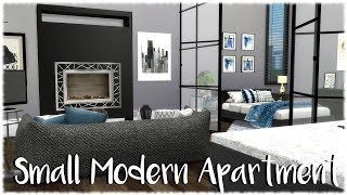 The Sims 4: Speed Build // SMALL MODERN APARTMENT + CC Links