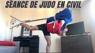 Séance judo à la maison