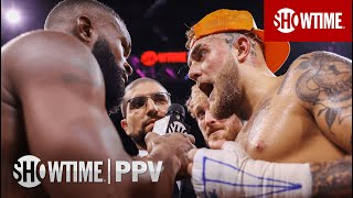 Jake Paul & Tyron Woodley Talk Rematch During Post-Fight Interview   SHOWTIME PPV