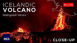 Geldingadalir Volcano, Iceland - LIVE! Close-up camera