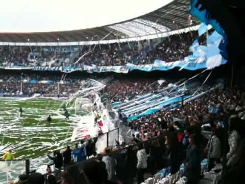 """Torcida cantando - Racing 1x2 Independiente - 27.09.2009"" Barra: La Guardia Imperial • Club: Racing Club • País: Argentina"