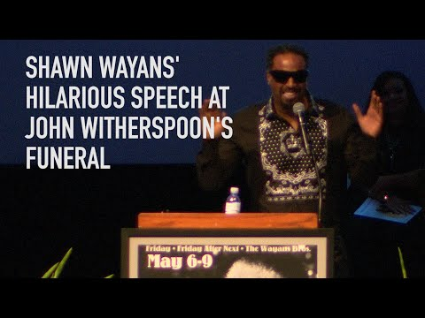 Download Shawn Wayans' Hilarious Speech At John Witherspoon's Funeral HD Mp4 3GP Video and MP3