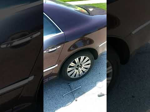 VW Volkswagen Phaeton 2002 - 2006 rear wheel bearing replacement procedure