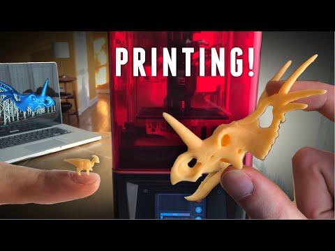 Making Dinosaurs with Light! Elegoo Mars LCD Resin Printer.