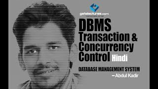 DBMS Transaction and Concurrency Control (Hindi) - Part 1 database management system tutorial