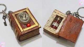 DIY: Mini Book For Bottle Charms/Miniature Spell Books Tutorial | DIY Mini Notebook /mini Spell Book