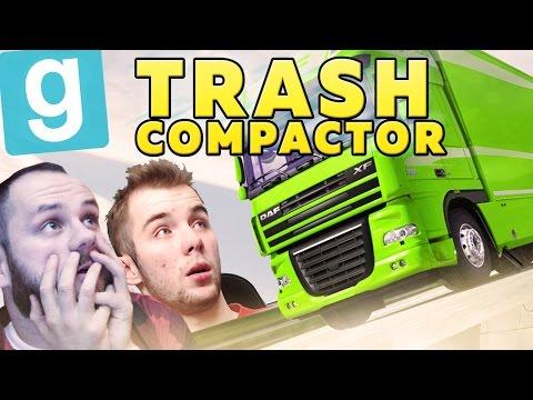 CIĘŻARÓWKA LECI! | Garry's mod (With: EKIPA) #474 - Trash Compactor [#7] #Bladii #Po Polsku #PL