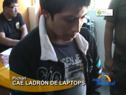 Cae ladrón de laptops en Pichari, Cusco