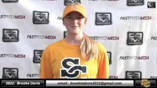 2022 Brooke Davis 3.8 GPA - Athletic Pitcher and First Base Softball Skills Video - Ca Suncats