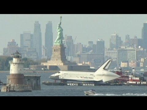 Watch The Space Shuttle Enterprise Float Merrily Up The Hudson River