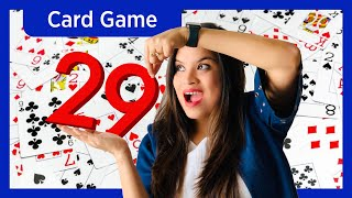 How to play 29 CARD GAME (in Hindi) |  Interesting CARD GAME for 4 Players | 28 Card Game Tutorial