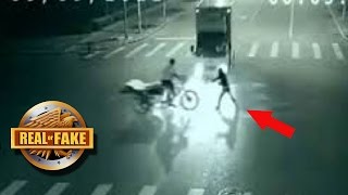 ANGEL SAVES MAN From Near Death - real or fake?