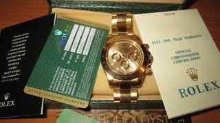 Rolex Daytona Золотые Ролекс Дайтона 750 18К Gold Oyster Perpetual