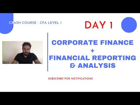 CFA Level I - Complete CRASH COURSE - CF + FRA