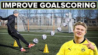 Become a better goalscorer like Haaland | Learn football skills