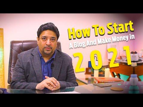 How to start a blog in 2021   Blogging for beginners   Make money blogging