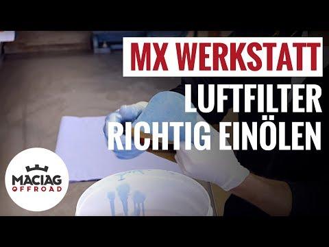 Motocross / Enduro Luftfilter einölen | Tutorial | Maciag Offroad MX Werkstatt