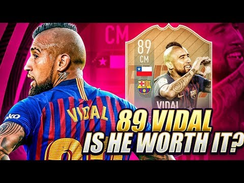 CHEAP 89 FLASHBACK VIDAL REVIEW! USABLE POST TOTS?! FIFA 19 Ultimate Team