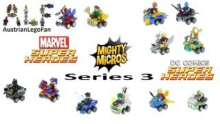 All Lego Super Heroes Mighty Micros Series 3 - 2018 - Lego Speed Build Review