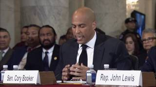 Sen. Cory Booker Testifies Against Sen. Jeff Sessions | Kholo.pk